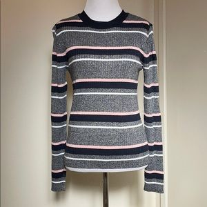 🆕Divided H&M Striped Ribbed Lightweight Sweater